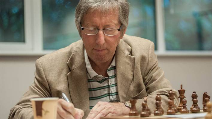 Keith Richardson at a recent chess tournament