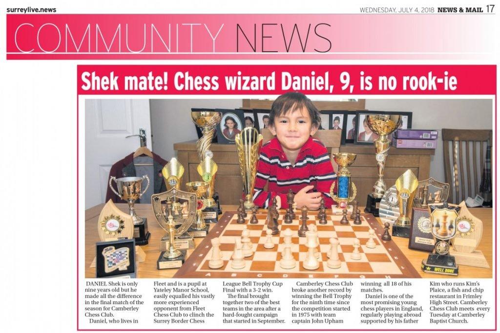 Daniel of Camberley Chess Club