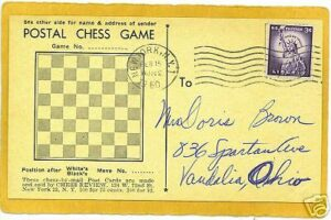 Postal chess postcard
