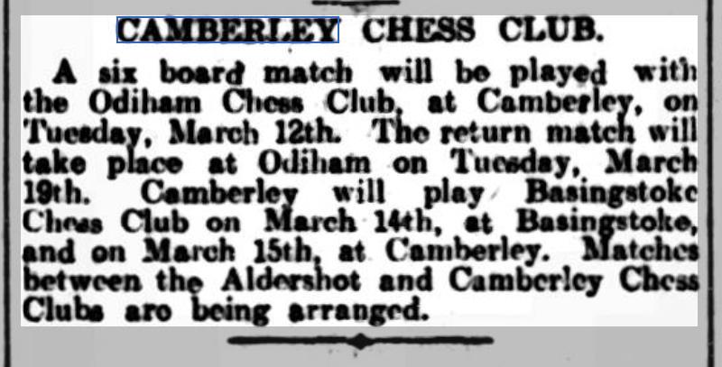 Surrey Advertiser, March 2nd, 1929.